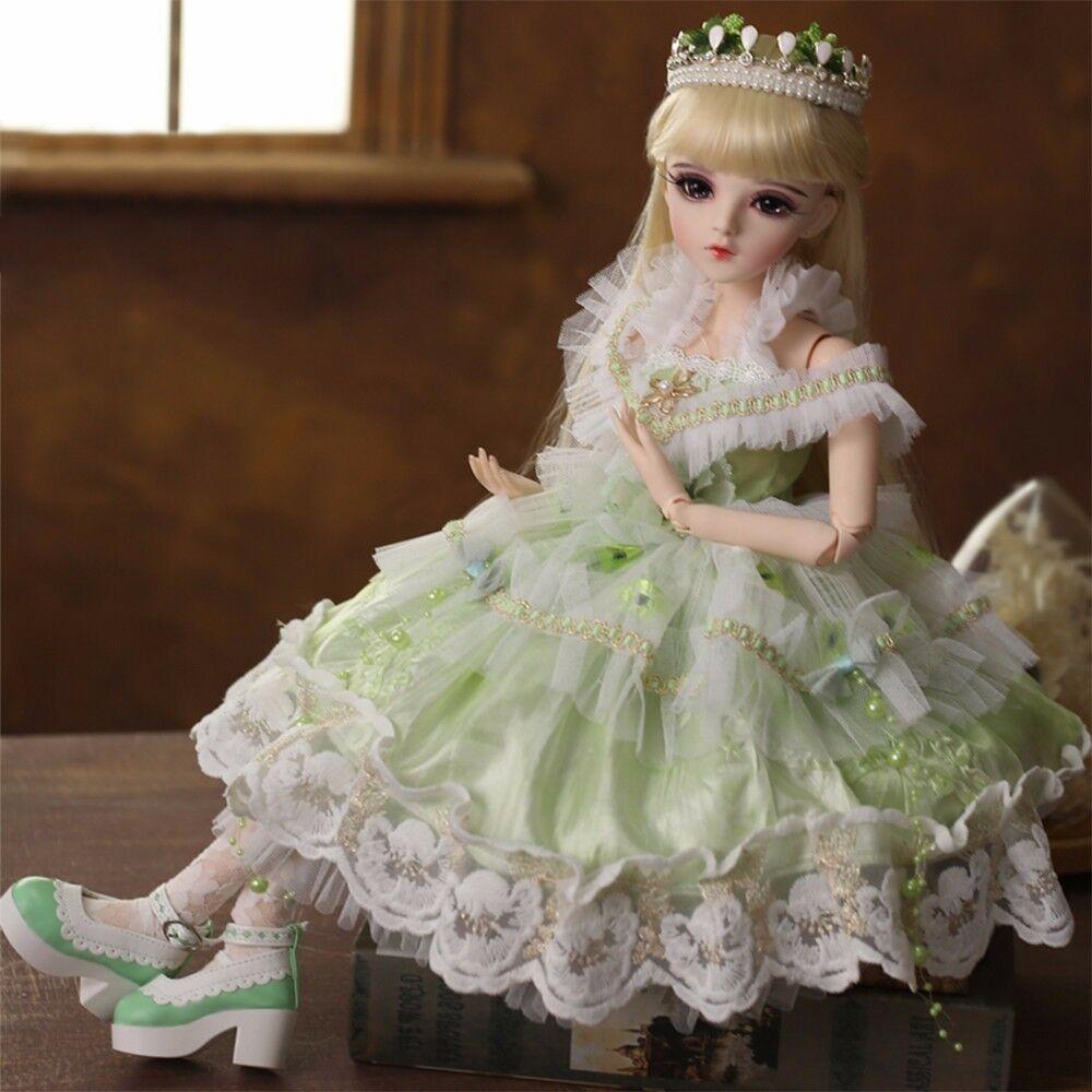 1 3 BJD Doll Handmade Beauty Clothes schuhe Eyes Face Makeup Toy Pretty Whole Set