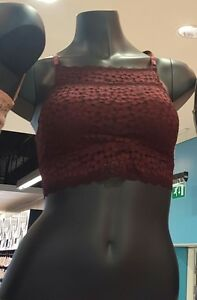 44bbb5d942 Primark secret possessions red crochet lace bralette bnwt burgundy size  medium
