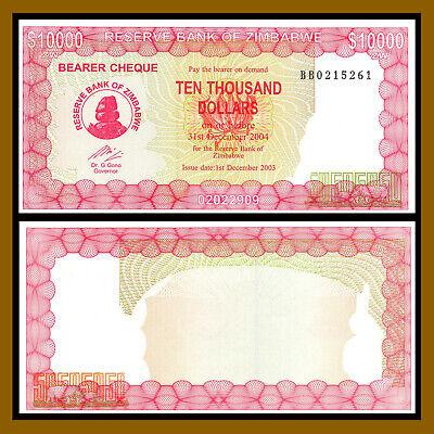 Zimbabwe 10000 Dollars 2003 UNC P-22