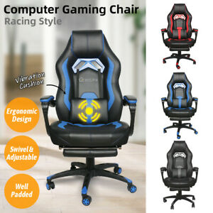Gaming Chair Ergonomic Racing Recliner Office Computer Desk Seat Swivel Footrest