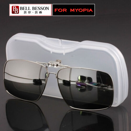 Sunglasses Polarized Clip On Driving Glasses Day Night Vision Shade Lens UV400