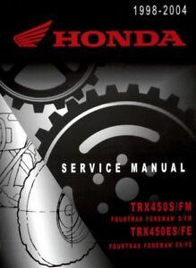 1998-2001 Honda TRX450S, TRX450ES FOURTRAX FOREMAN Service ...
