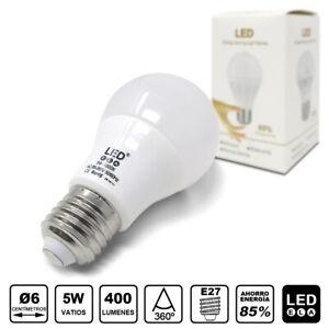 LED26 LED A60 Pack 400Lm Bombillas de bajo E27 5 5W consumo esferica Detalles vNwO8ny0Pm
