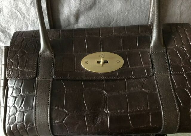 cdc80a0ba325 Mulberry East West Bayswater in brown croc effect leather - discontinued