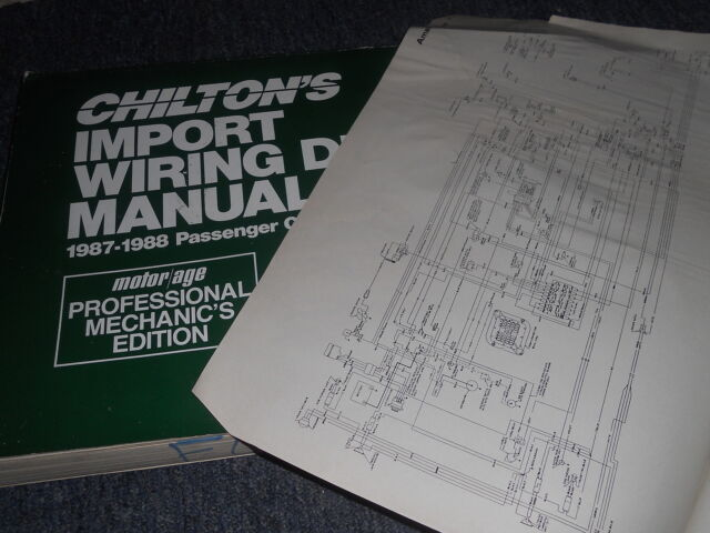 1987 Toyota Tercel Wagon Oversized Wiring Diagrams