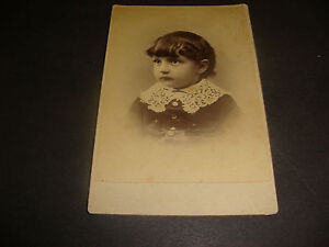 Antique Cabinet Photo,Portrait Child,F.H. Goss,Websters Block ...