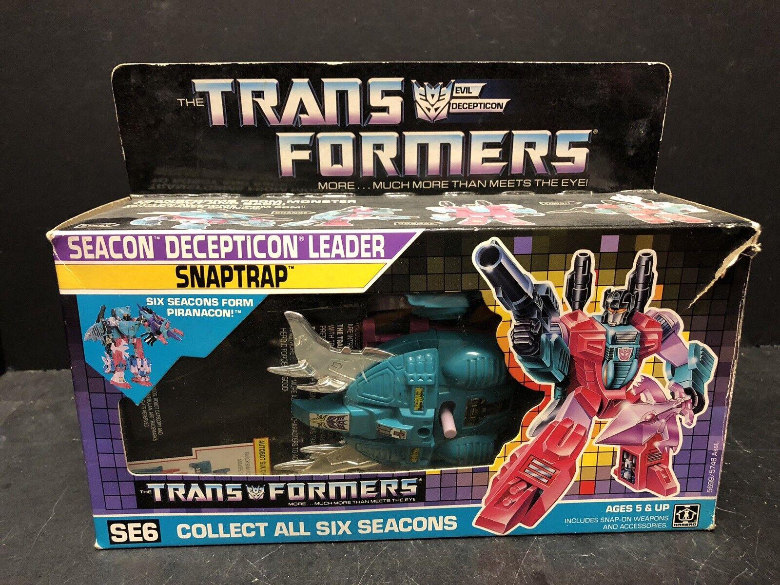 Web oficial Original Vintage 1987 Transformers G1 SEACON SEACON SEACON Snaptrap Completo Con Caja AM0016  compras de moda online