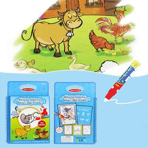 Magic Water Drawing Book Coloring Book with Pen Animal Series Kids ...