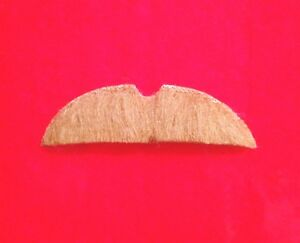 fake-costume-mustache-BROWN-adhesive-STACHE-theater-facial-hair-Moustache-Blonde
