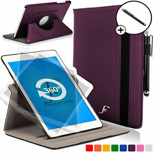 Purple Rotating Smart Case Cover for Samsung Galaxy Tab S2 9.7 SM-T810 Stylus