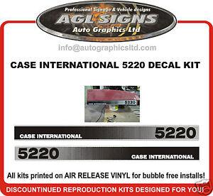 CASE INTERNATIONAL 5220  DECAL SET , reprocduction