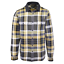 thumbnail 1 - GUESS-Men-039-s-Grey-Yellow-Olive-Green-White-Plaid-L-S-Flannel-Shirt