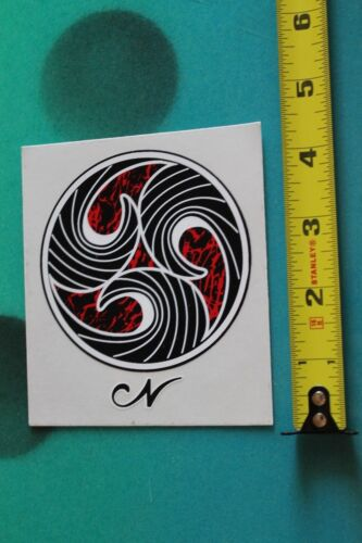 Jay NELSON Surfboards Red Circle Wave Logo SURF FUSION Vintage Surfing STICKER