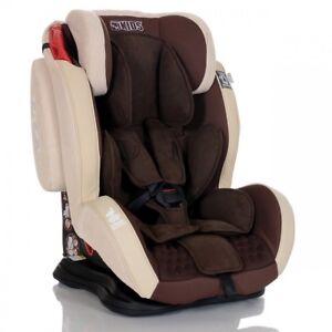 LCP-Kids-Autokindersitz-GT-9-36-kg-Baby-Kinderautositz-Gruppe-1-2-3-Braun-Beige