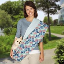 new Zack & Zoey Blue Paisley Print Reversible Sling Pet Dog Cat double sided