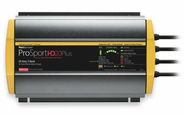 ProMariner ProSport HD 20 PLUS GEN 4 20 AMP 3 Bank Marine Bo