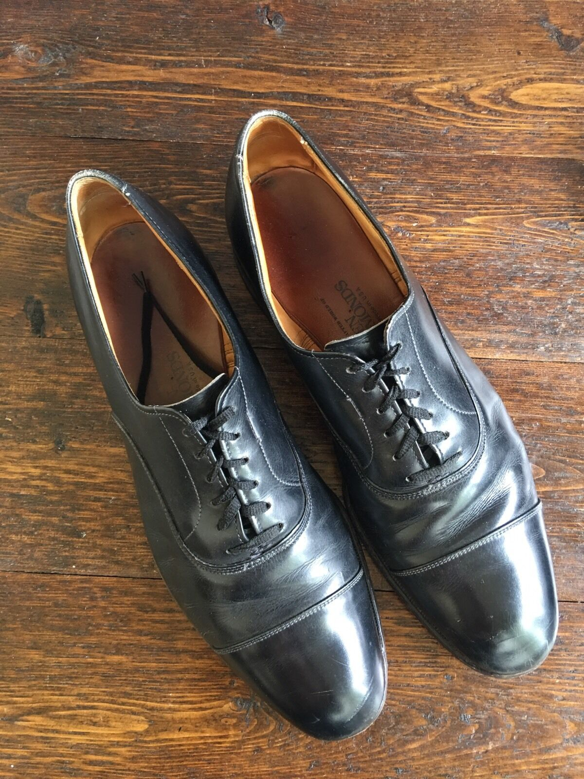 Men's Allen Edmonds Park Avenue Dress Oxfords Calfskin 11 B Cap Toe Calfskin Oxfords Leather 96b33f