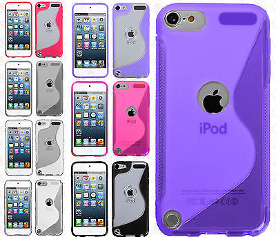 For Apple iPhone 4 4S S-Line TPU Gummy Skin Case Phone Cover Blue Clear