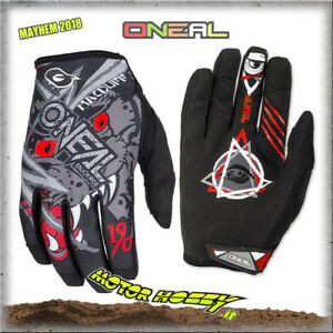 GUANTO-GLOVE-CROSS-ENDURO-QUAD-O-039-NEAL-ONEAL-MAYHEM-MATT-MCDUFF-GREY-RED-TG-L