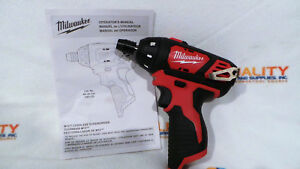 New-Milwaukee-2401-20-M12-12V-Li-Ion-Cordless-1-4-034-Hex-Screwdriver-Bare-Tool