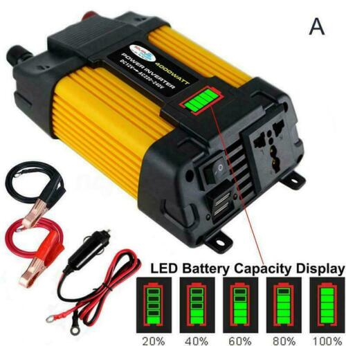 12 V DC ZU 110 V 220 V AC 6000 W Spitzen Auto Wechselrichter Solar Converte K4Y3