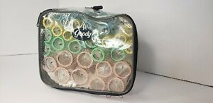 Vintage-Goody-Brush-Roller-Set-36-Hair-Curlers-Mesh-Rollers-And-Pins-In-Case