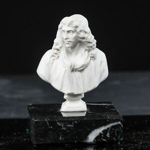 Sculpture-of-Moliere-on-a-solid-marble-base-Art-Gift-Ornament
