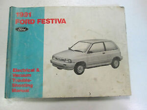 image is loading 1991-ford-festiva-electrical-wiring-diagrams-service-shop-