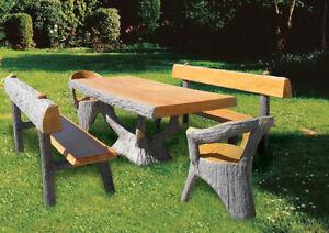 Tisch Bank In Holzoptik Gartenmobel Beton 5 Teilig Steinguss