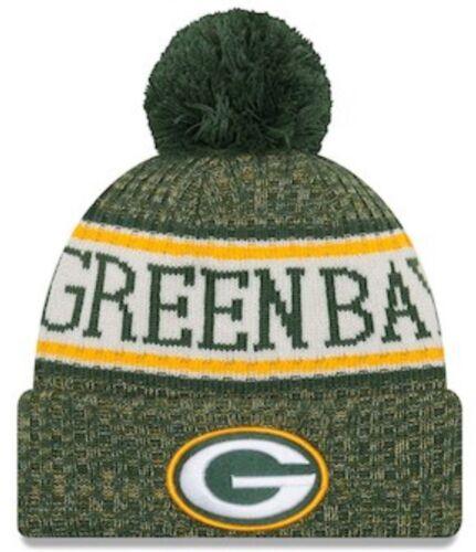 NFL NEW ERA GREEN BAY PACKERS TEAM WINTER KNIT BOBBLE BEANIE HAT