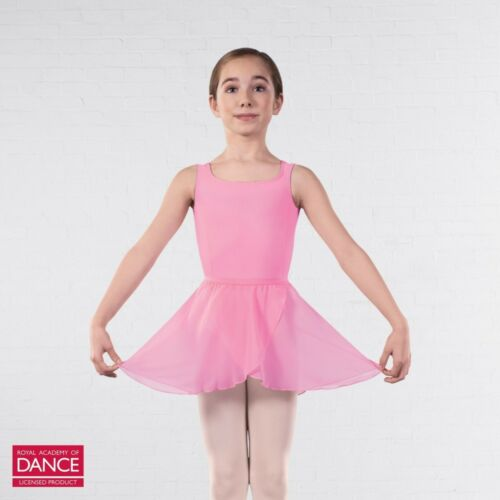 RAD Approved Wrapover Chiffon Ballet Dance Skirt Lilac Marine Pink