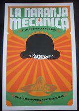 Rare Cuban CLOCKWORK ORANGE Silkscreen Movie Tribute Poster / Cuba Pop Art Gem