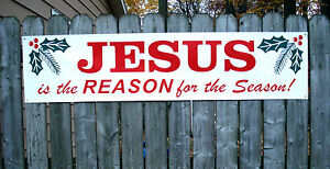 Jesus is the reason for the season banner sign new ebay for Jesus is the reason for the season coloring pages