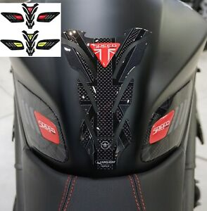 Kit adesivi gel 3D per serbatoio moto compatibile Triumph Speed Triple 2016-2020