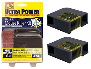 2-x-ULTRA-POWER-Indoor-Mouse-Poison-Killer-Station-With-5x20g-Block-Bait-Rodent