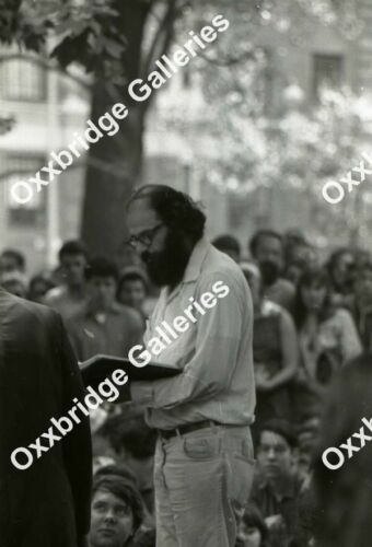 ALLEN GINSBERG POET Photo Negative WASHINGTON SQUARE PARK NYU SDS 1966 Poetry