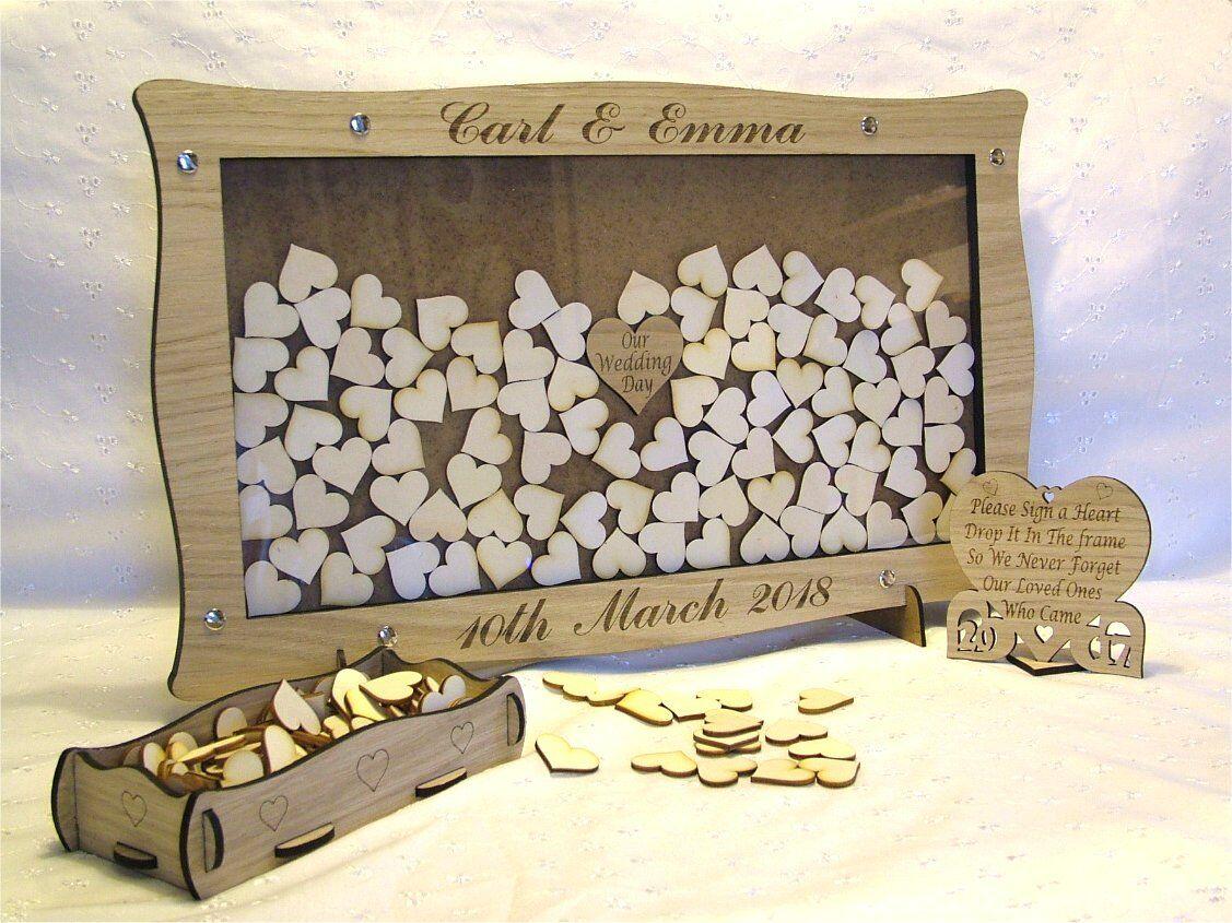 Wedding Drop Box Personalised Ideal Wedding Keepsake Guest Book Alternative fr