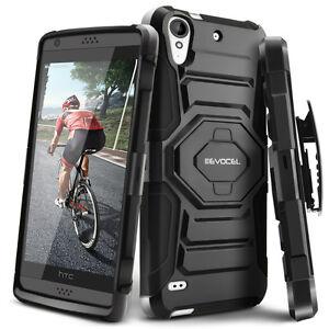 HTC-Desire-530-caso-evocel-Resistente-Funda-Con-Soporte-amp-Clip-de-cinturon-555-650