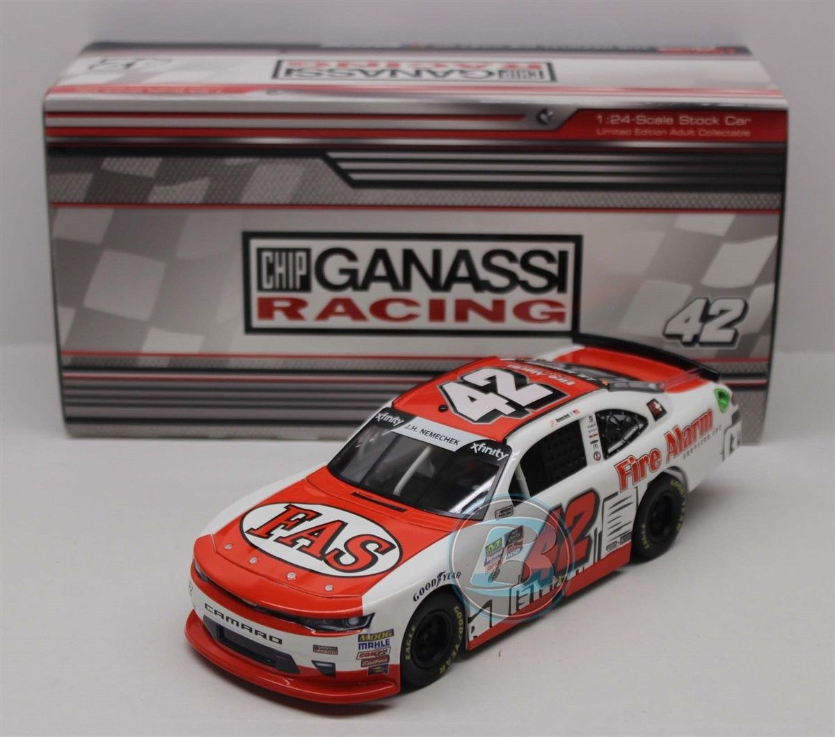 NEW NASCAR 2018 JOHN HUNTER NEMECHEK  42  FIRE ALARM SERVICES 1/24 CAR