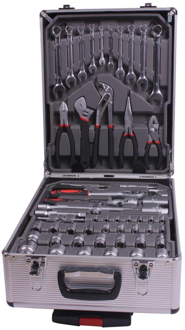 Atrox AY 359 Werkzeugkoffer, 186 tlg., Werkzeuge aus Chrom-Vanadium-Stahl