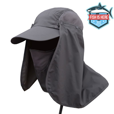 HIKING BACKPACKING  3OZ HAT  WHITE ONE SIZE  NECK PROTECTION 3 3//4 BILL