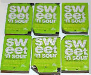 Mcdonald S Dulce Y Agrio Inmersion Salsa 6 Paquetes Sellado Ebay