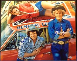 Bach,Wopat,Schneider Signed 16x20 Dukes of Hazzard Photo PSA/DNA #AA03522