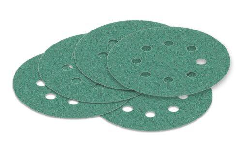 10 pièces 125 mm Meules 60-2000 meule PONCEUSE papier abrasif velcro détention vert