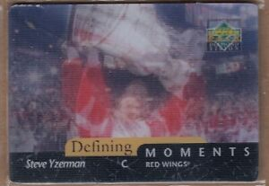 STEVE YZERMAN 1997 UD Upper Deck Diamond Vision DEFINING MOMENTS RED WINGS!