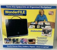 Wonderfile Portable Workstation Black New In Box As Seen On Tv Files Folder