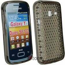 Cover Custodia Per Samsung Galaxy Y Duos S6102 Silicone Gel Nero Diamond