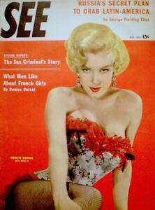Marilyn-Monroe-Magazine-1954-SEE-Bruno-Bernard-Of-Hollywood-20th-Century-Fox-EX