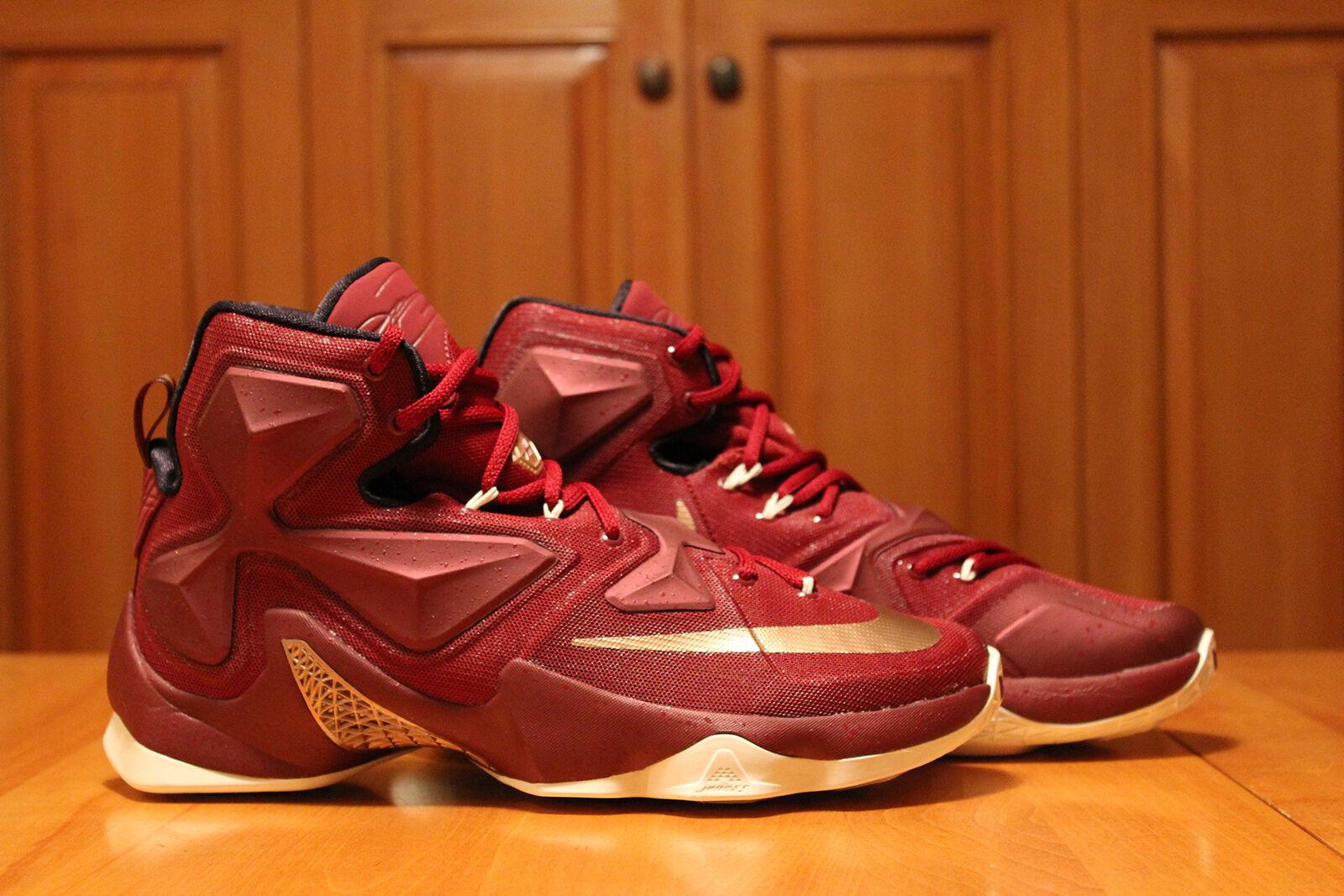 Nike Lebron 13 XIII Christ to King Rare DS Mens SZ 10.5 Burgundy gold