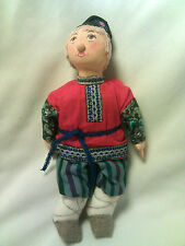 """2000-Russian National-Traditional Folk Costume-Cloth Doll-10""""-Hand Made-#1-MINT"""